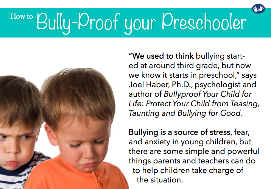 Bully Proof Your PreSchooler