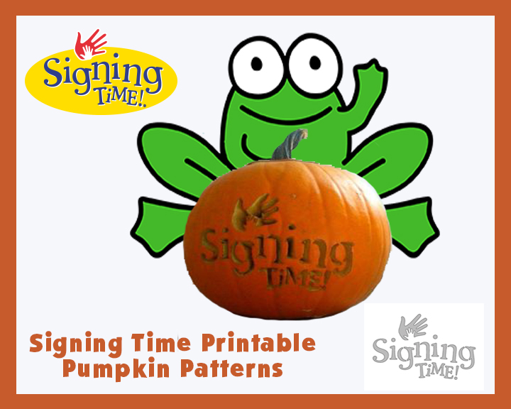 Signing Time Pumpkin Patterns
