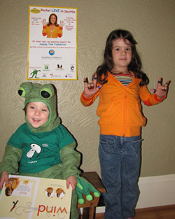 Kids dressed up at Rachel and Hopkins for Halloween.